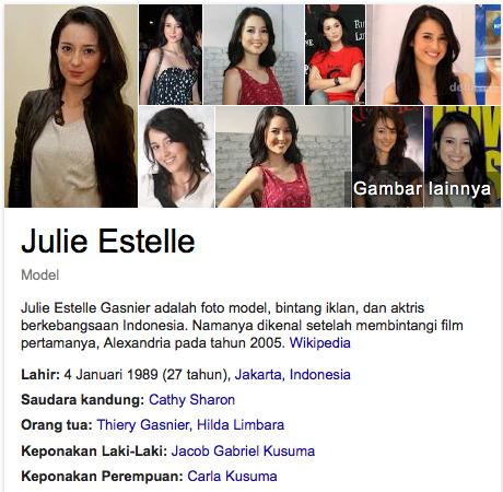 Julia Estelle kumpulan artis terkaya di indonesia pada tahun 2015