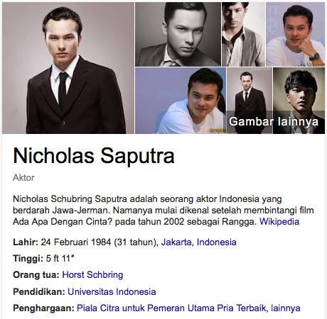 Nicholas Saputra daftar aktor terkaya di indonesia thn 2015