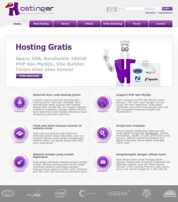 cara upload website ke internet gratis