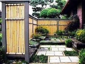 Ide Pagar Rumah Berdesain Minimalis Dari Bambu