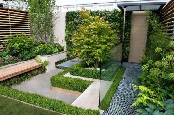 Rancangan Model Taman Rumah Berdesain Minimalis Modern