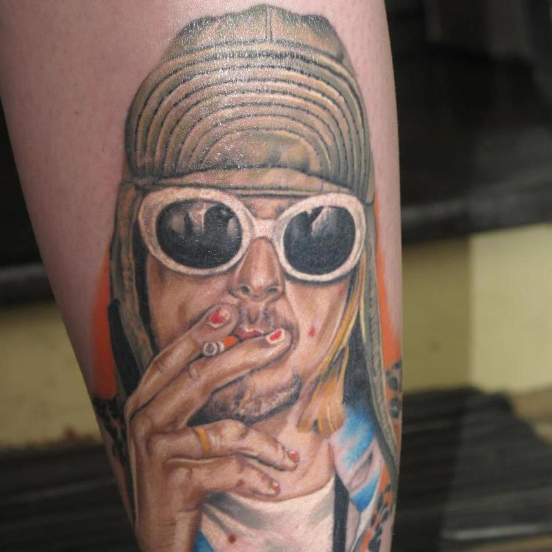 Best 45 Kurt Cobain Tattoos Nsf