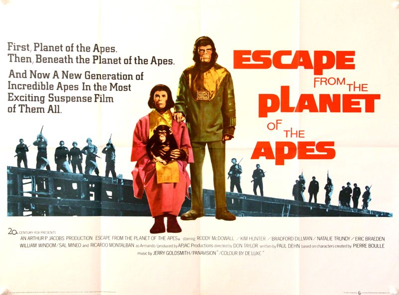 Image result for Escape from the Planet of the Apes.