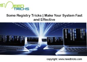 Registry Tricks