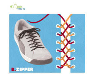 B.Zipper Shoe-laces