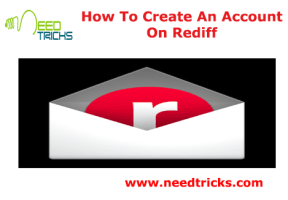 How To Create An Account On Rediff