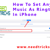 How To Set Any Music As Ringtone In iPhone