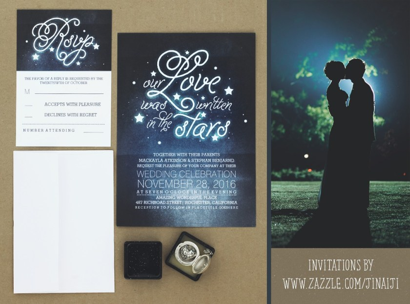 Stars Wedding Invitation