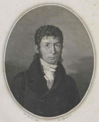 Portret van Jakob Glatz van omstreeks 1800.