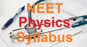 NEET Physics Syllabus