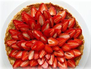 cilekli-franjipanli-tart