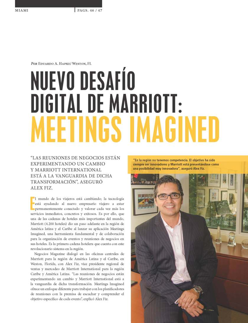 MARRIOTT: MEETINGS IMAGINED
