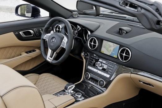 Interior del Mercedes-Benz SL65 AMG.