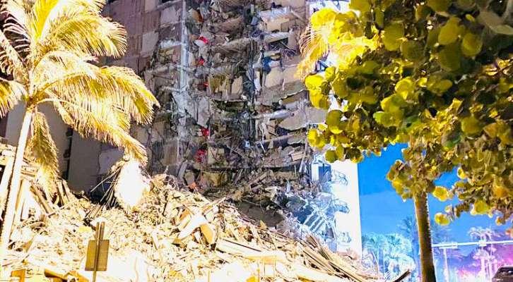 SE DERRUMBÓ EDIFICIO EN MIAMI: AL MENOS UN MUERTO, VARIOS HERIDOS Y RESCATAN A NIÑO DE LOS ESCOMBROS