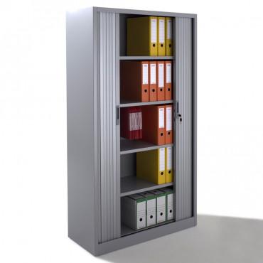 armoire a rideaux h180 en metal livree montee