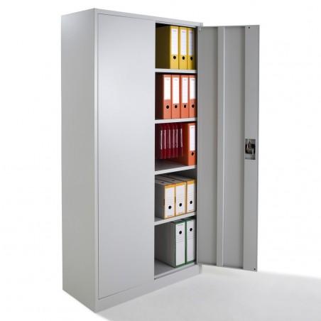 armoire metallique a portes battantes monobloc h180xl80xp38 cm
