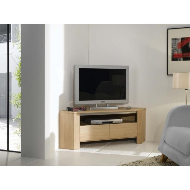 meuble tv d angle chene neha