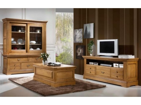 grand meuble tv massif classique