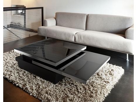 table basse laquee modulable contemporaine