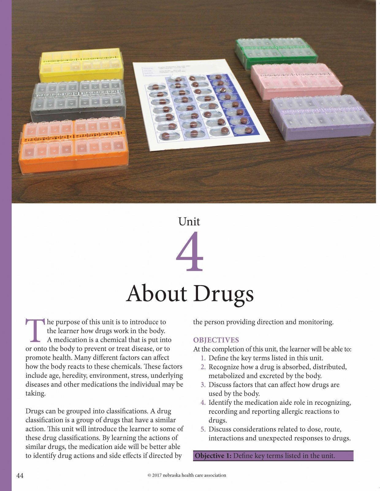 Medication Aide Training Student Manual Fourth Edition Nebraska Health Care Association