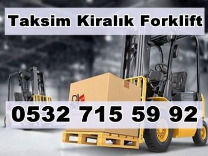 Taksim Kiralık Forklift İle Yük İndirme Taksim Kiralık Forklift Kiralama
