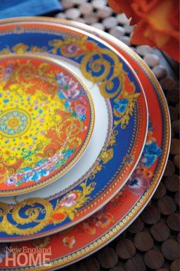 Dragoo's husband selected the colorful china.
