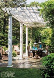 Katie Rosenfeld pergola-covered patio