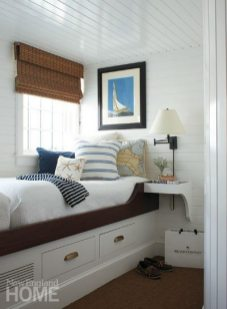 The bunk, one of two that sit toe to toe, is a favorite sleeping spot for guests.