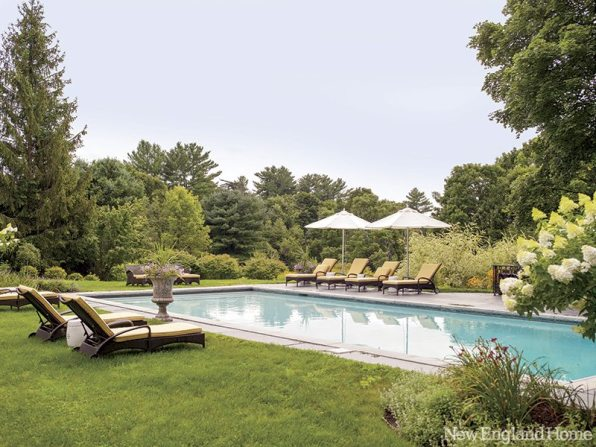 Meadowbrook Gardens worked with the homeowner to bring beauty and privacy to the pool area.