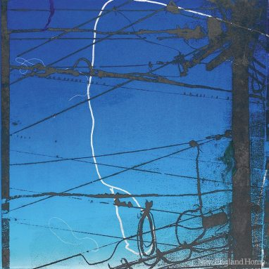 Noose, from the Blue Plate Specials series (2010), paper lithograph monoprint