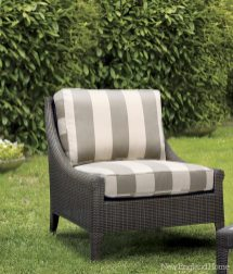 """Al Fresco Hampton Chair by Palecek """"Constructed of all-weather synthetic rattan, a pair of these Palecek chairs would be perfect on the front porch. They're well made, beautiful and, best of all, durable."""" Decorative Interiors, Galleria Design Center, Middletown, (860) 638-3818, www.greatstylenow.com"""