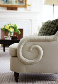 Exquisite details elevate the club chairs.