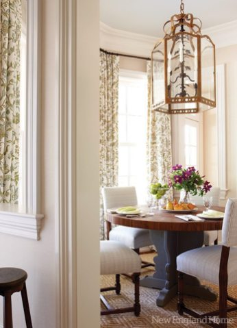 The breakfast room's Holly Hunt lantern adds an artful note.
