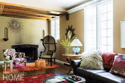Andra Birkerts living room