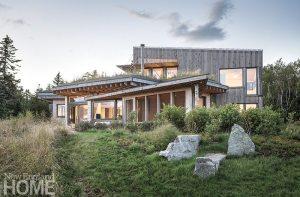 Contemporary Maine compound landscape