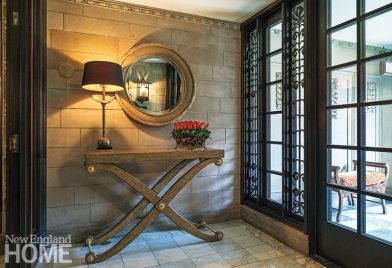 Classic Back Bay townhouse entry hall