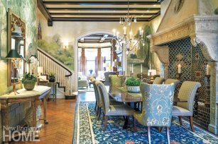 Classic Back Bay townhouse dining room