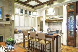 Classic Back Bay townhouse kitchen