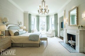 Classic Back Bay townhouse master bedroom