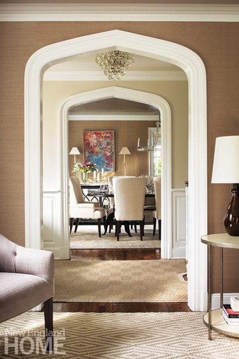 The New Canaan house, a 1920s colonial, was renovated by previous owners, who kept the simple but lovely architectural details in place.