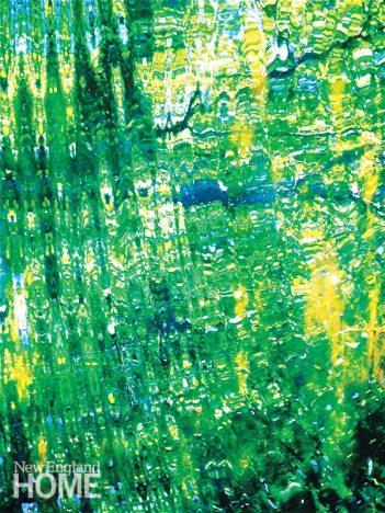 Kaleidoscope (2011), mixed-media on canvas, 52″H × 38″W