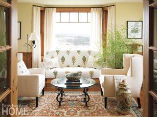 Rhode Island coast cottage morning room