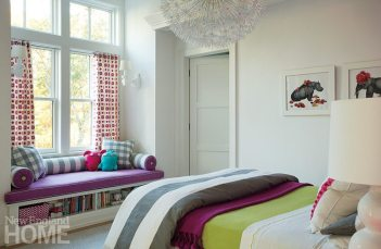 Bedding in vivid hues from Serena & Lily brings a dynamic vibe to a daughter's room.