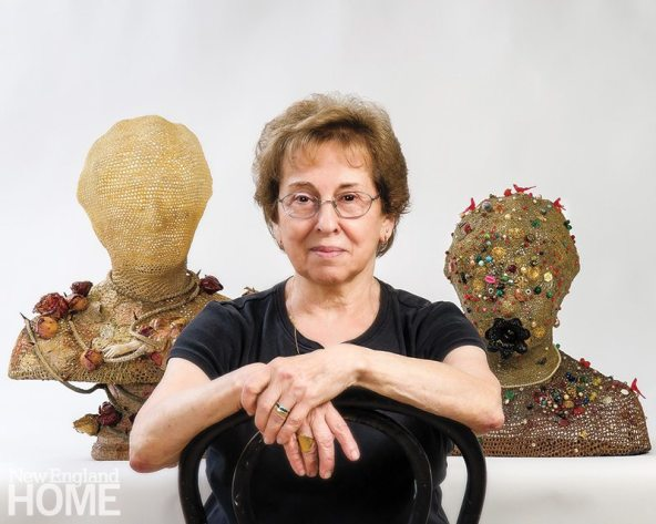 The artist with a self-sculpture