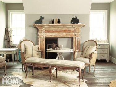 Her studio is a trove of pieces she has meticulously refinished and upholstered.