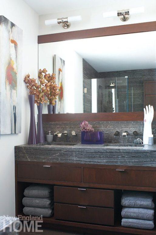 Family friendly penthouse master bathroom