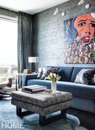 Contemporary Boston apartment study