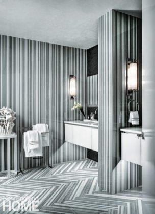 Contemporary Boston apartment master bath