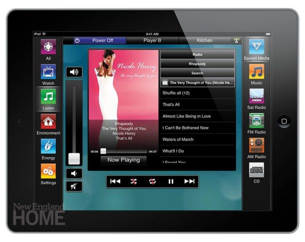 Savant's TrueControl turns an iPad into a control panel.