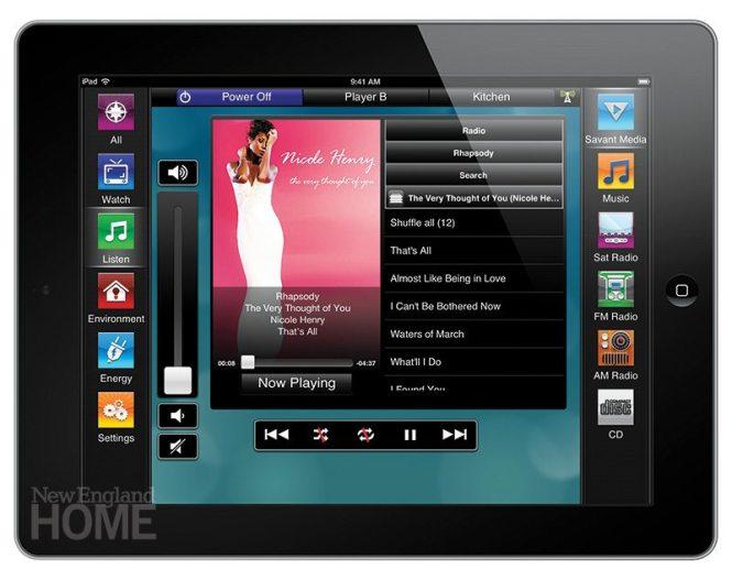 Savant's TrueControl turns an iPad into a control panel.